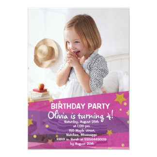 Girl Birthday Invitation