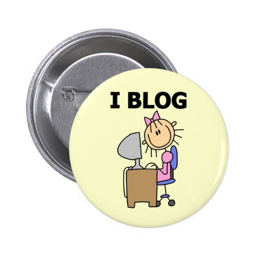 Girl Blogger Tshirts and Gifts Buttons