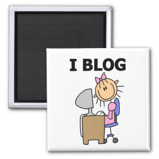 Girl Blogger Tshirts and Gifts Magnet