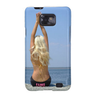 girl-blonde sits on coast samsung galaxy s2 cases