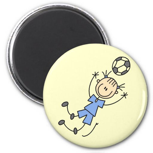 Girl Blue Soccer Uniform Tshirts and Gifts Refrigerator Magnet