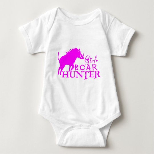 GIRL BOAR HUNTING BABY BODYSUIT