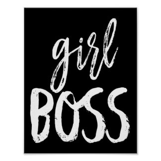 Girl, Boss Fun Typography Poster