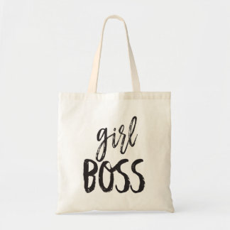 Girl, Boss Fun Typography Tote Bag