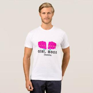 Girl Boss Ladies Female Women Fist Pink Tshirt Top
