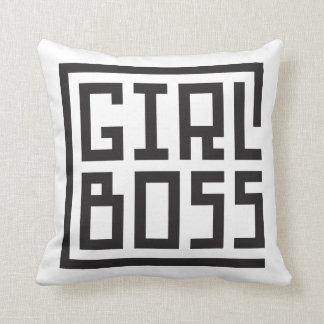 girl boss throw pillow