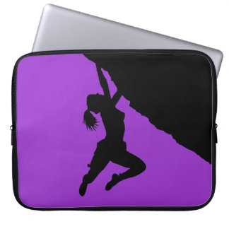 girl boudering laptop sleeve