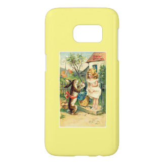 Girl & Bunny Vintage Easter Samsung Galaxy S7 Case