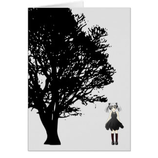 Girl by Tree Card