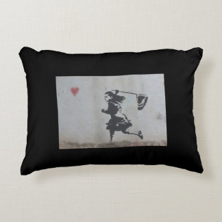 Girl Catching Heart Pillow