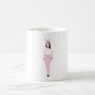 Girl character in easter bunny costume Mug