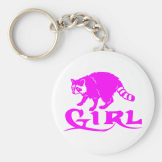 GIRL COON HUNTING BASIC ROUND BUTTON KEYCHAIN