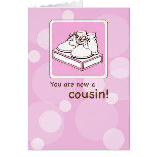 Girl Cousin Congratulations Card