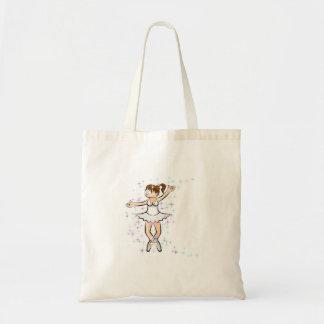 Girl dances ballet and glamor amusingly tote bag