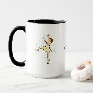 Girl dances ballet under stars multicoloured mug