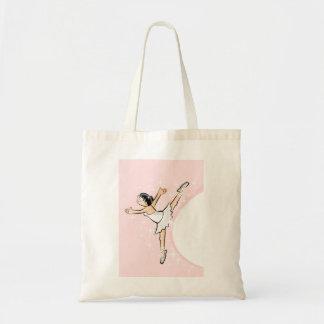 Girl dancing ballet expressing its glamor tote bag