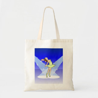 Girl dancing ballet illuminated by its enchantment tote bag