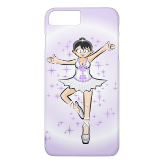 Girl dancing ballet surrounded by an violet dawn iPhone 8 plus/7 plus case