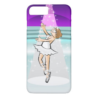 Girl dancing ballet under a pink and white light iPhone 8 plus/7 plus case