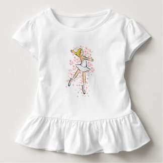 Girl dancing ballet under a rain of flowers toddler t-shirt