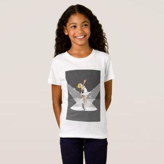 Girl dancing ballet under the illumination centers T-Shirt