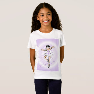 Girl dancing ballet under violet surroundings T-Shirt