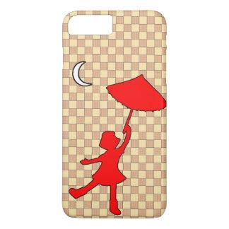 Girl dancing with her umbrella iPhone 7 plus case