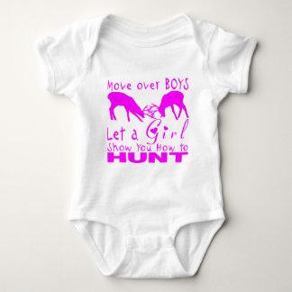 GIRL DEER HUNTING BABY BODYSUIT