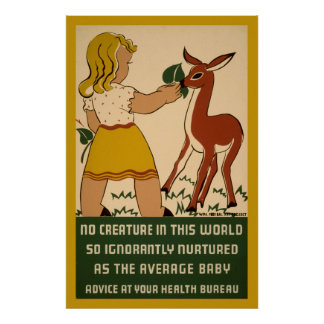 Girl Deer Nutrition 1938 WPA Poster