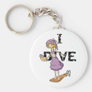 Girl Diver Keychain