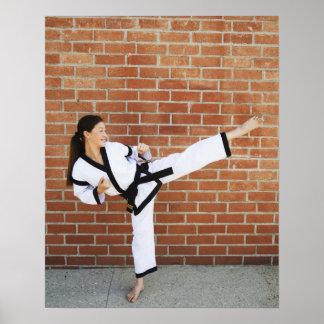 Girl doing martial arts 2 poster
