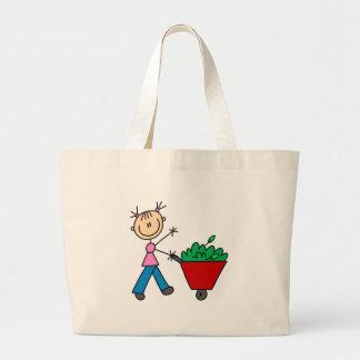 Girl Doing Yardwork Bag