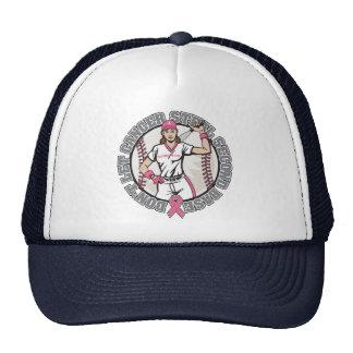 Girl-Don't Let Cancer Steal 2nd Base-Breast Cancer Trucker Hat