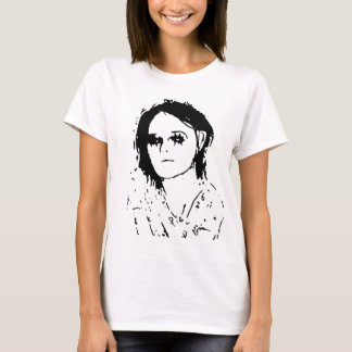 Girl drawing t-shirt