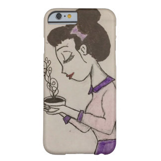 Girl Drinking Tea, iPhone 6 and 6s Phone Case