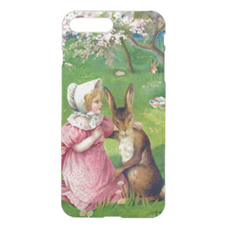Girl Easter Bunny Colored Eggs Dogwood iPhone 7 Plus Case