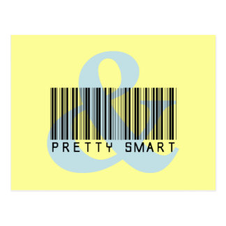 Girl Empowerment: You can be pretty and smart Postcard