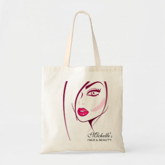 Girl Face Beautician Make-up artist Tote Bag