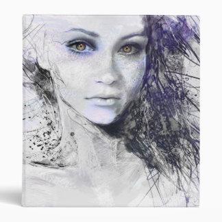 Girl Face Eyes Hair Drawing Binders