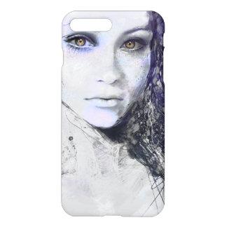 Girl Face Eyes Hair Drawing iPhone 7 Plus Case