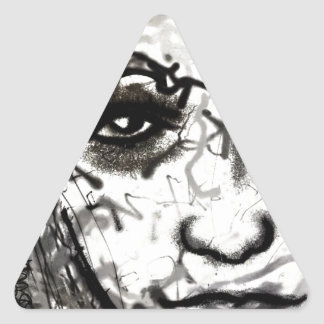 Girl Face Triangle Sticker