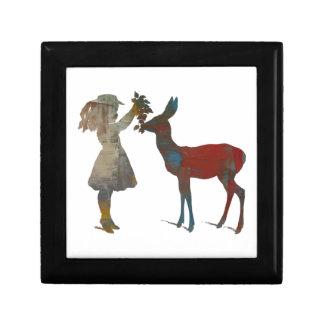 Girl Feeding Deer Gift Box
