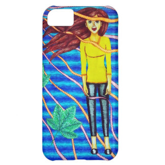 Girl Floating In Psychedelic Sky Cover For iPhone 5C
