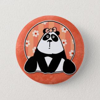 girl flower panda 2 inch round button