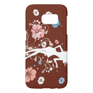 Girl & Flowers Samsung Galaxy S7 Case