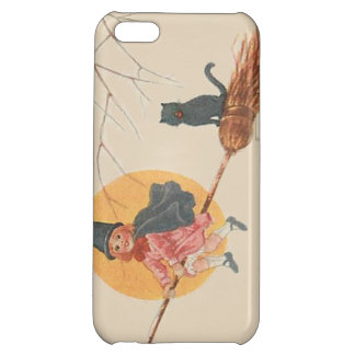 Girl Flying Witch Black Cat Full Moon iPhone 5C Case