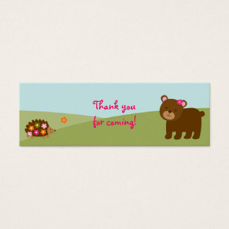 Girl Forest Animal Goodie Bag Tags