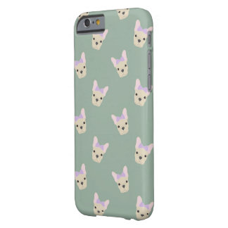 Girl French Bull Dog Pattern Barely There iPhone 6 Case