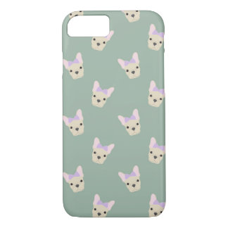 Girl French Bull Dog Pattern iPhone 7 Case