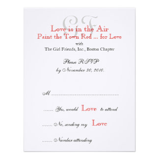 Girl Friends Night Out RSVP Cards 2 Invites